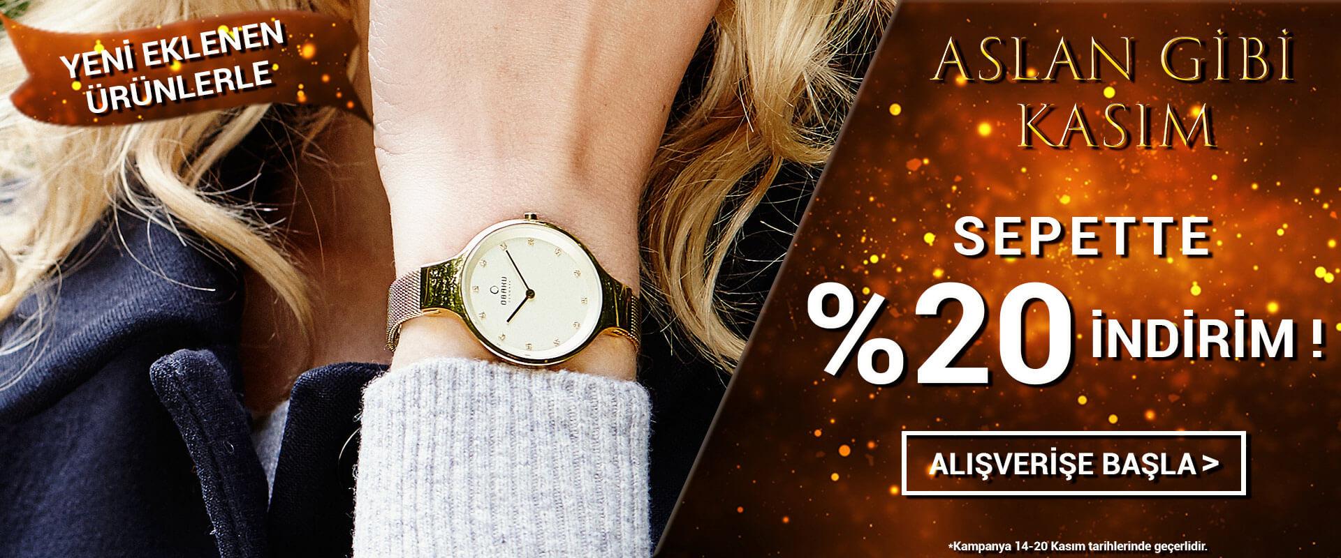 Aslan Gibi Kasım Obaku Denmark Saat Sepette %15 İndirim