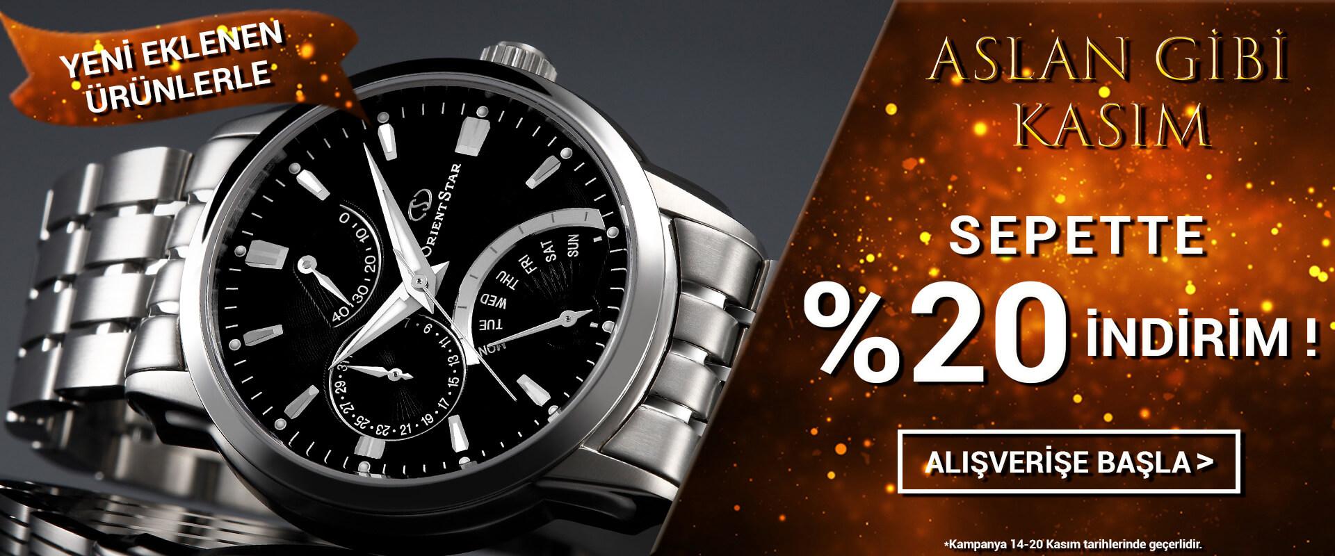 Aslan Gibi Kasım Orient Star Saat Sepette %15 İndirim