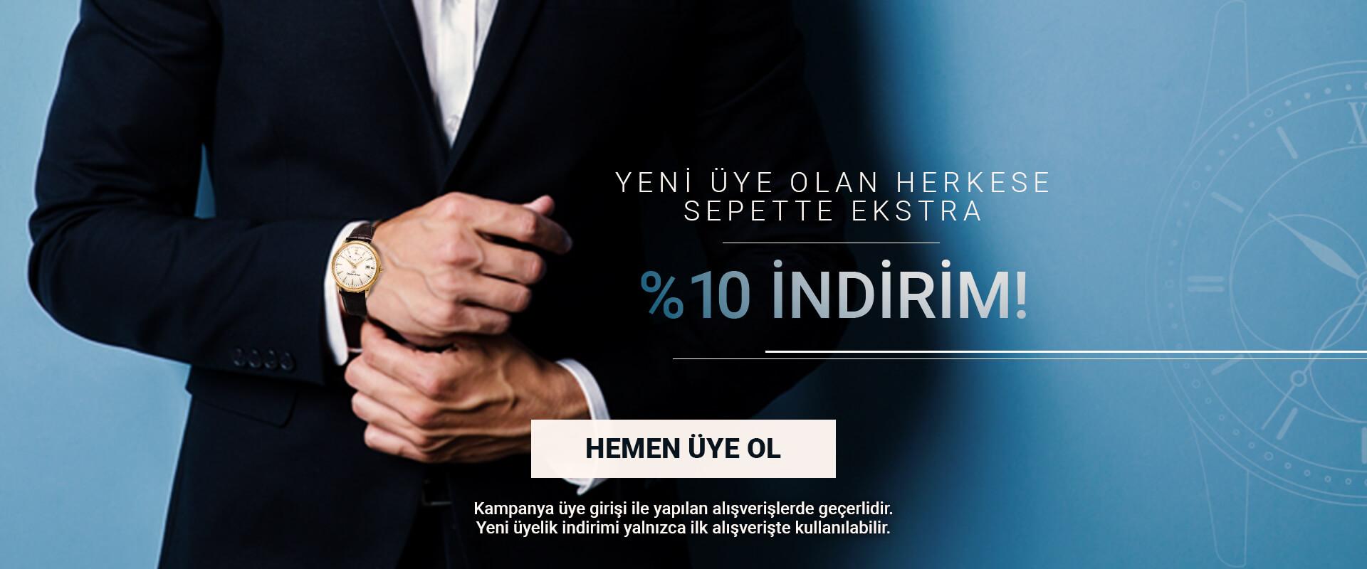 %10 Yeni Üye İndirimi