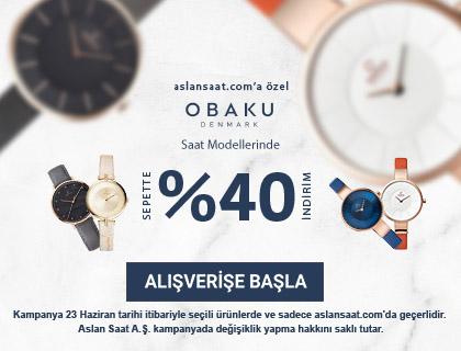 Seçili Obaku Denmark Saat Modellerinde Sepette %40 İndirim
